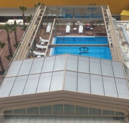 Retractable Sliding Glass Roof