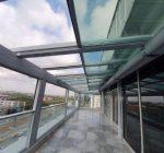sliding glass roof